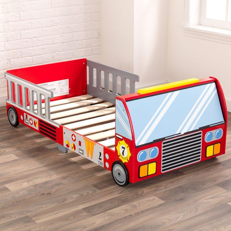 KidKraft Firefighter Toddler Car Bed & Reviews | Wayfair