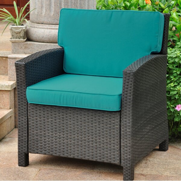 Three Posts Binney Wicker Resin Contemporary Patio Chair with Cushion &  Reviews | Wayfair - Three Posts Binney Wicker Resin Contemporary Patio Chair With