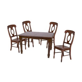 Lockwood 5 Piece Extendable Solid Wood Dining Set