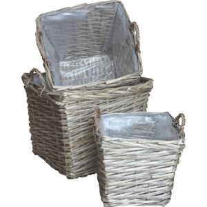 3-tlg. Korb-Set aus Korbgeflecht von Home Loft C..