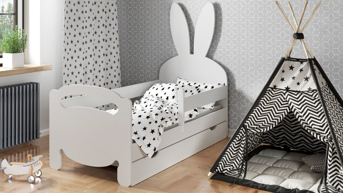 m bel concept kinderbett emma mit matratze und schublade. Black Bedroom Furniture Sets. Home Design Ideas