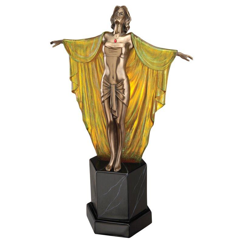 Design Toscano Majestic Maiden Art Deco Illuminated Sculpture