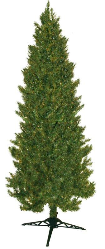 84 green slim spruce artificial christmas tree - Slim Christmas Trees