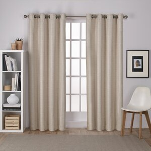 Plant City Solid Blackout Thermal Grommet Curtain Panels (Set of 2)