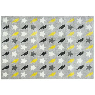 Dean Bolt Yellow/Grey Rug by Metro Lane