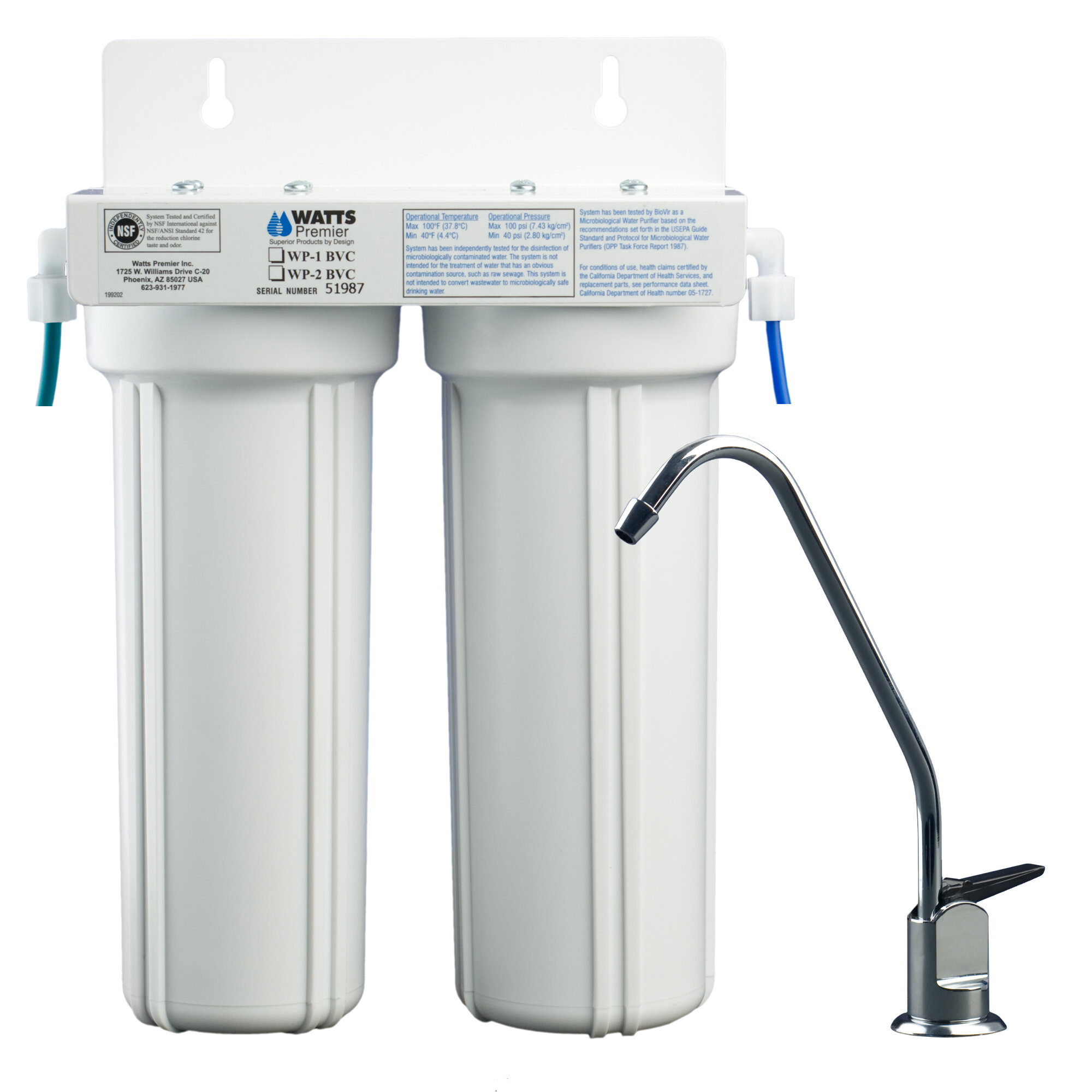 Watts Premier 2-Stage Under-sink Filtration System & Reviews | Wayfair