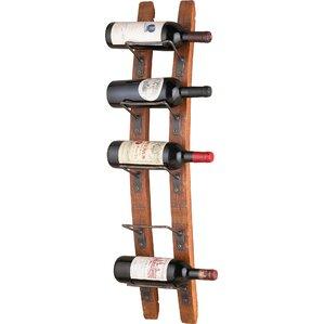 kain 5 bottle wall mounted wine rack