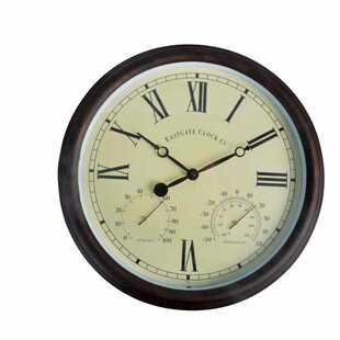 world of weather 15 roman numerals clock