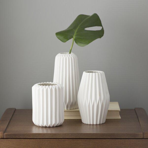 Modern Contemporary Elkhart 3 Piece Vase Set Allmodern