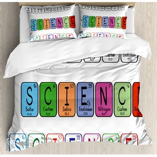 Ambesonne periodic table wayfair periodic table science letterings with capital elements school students chemistry lovers duvet set urtaz Image collections