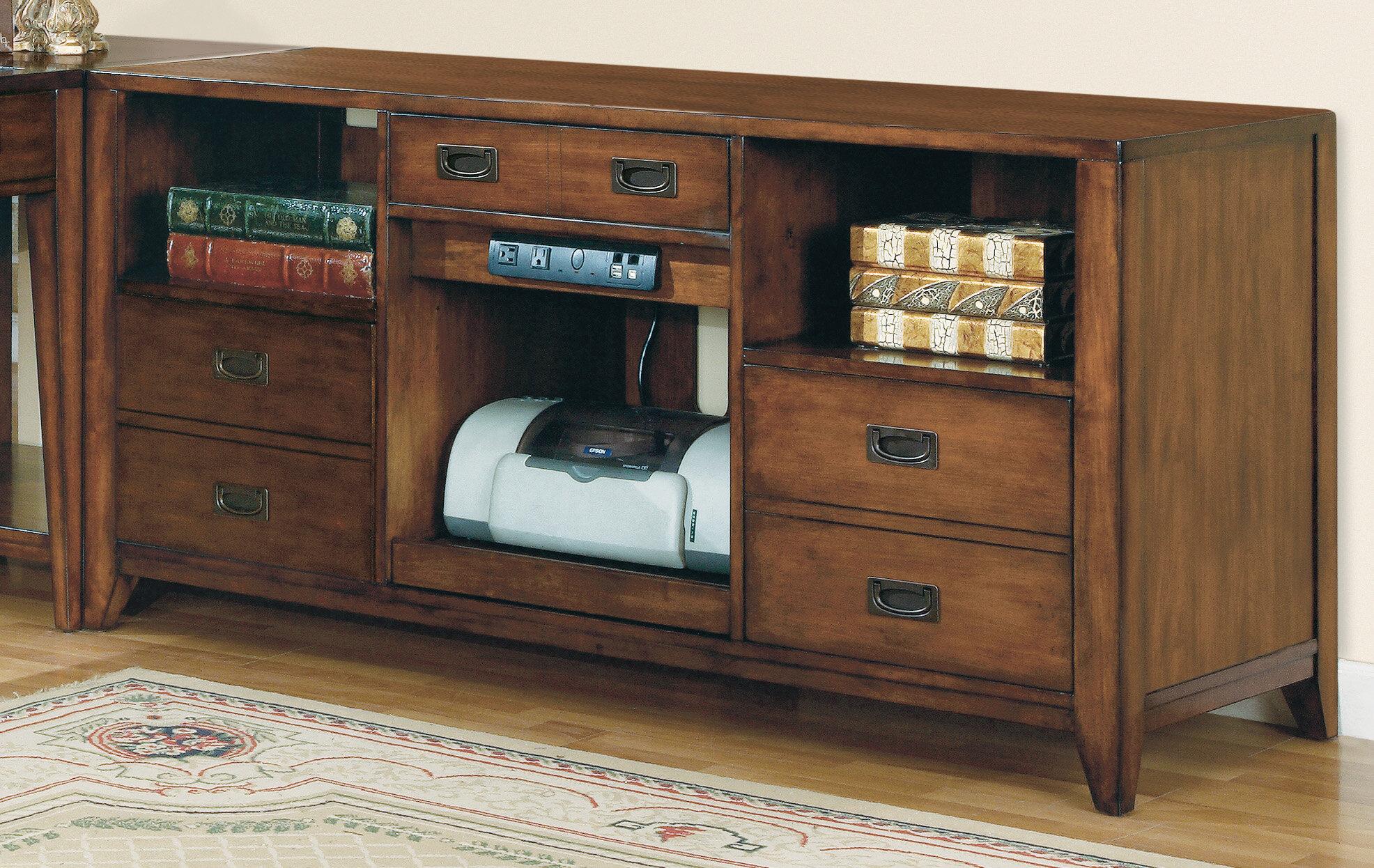 La Credenza Supplier : Hooker furniture danforth open credenza desk reviews wayfair