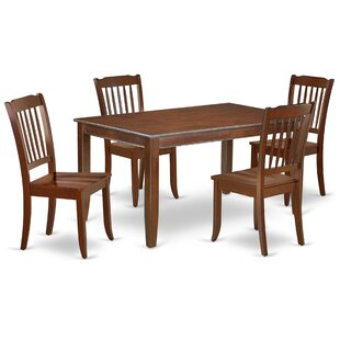 Kucharski 5 Piece Solid Wood Dining Set