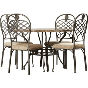 Sanchez 5 Piece Dining Set by Latitude Run