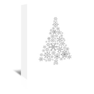 Snowflake Tree Graphic Art on Wrapped Canvas