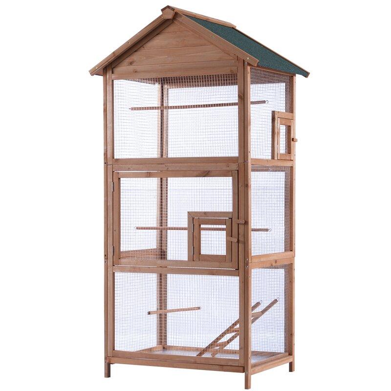 04fb32cb0 Lovupet Wood Bird Cage & Reviews | Wayfair