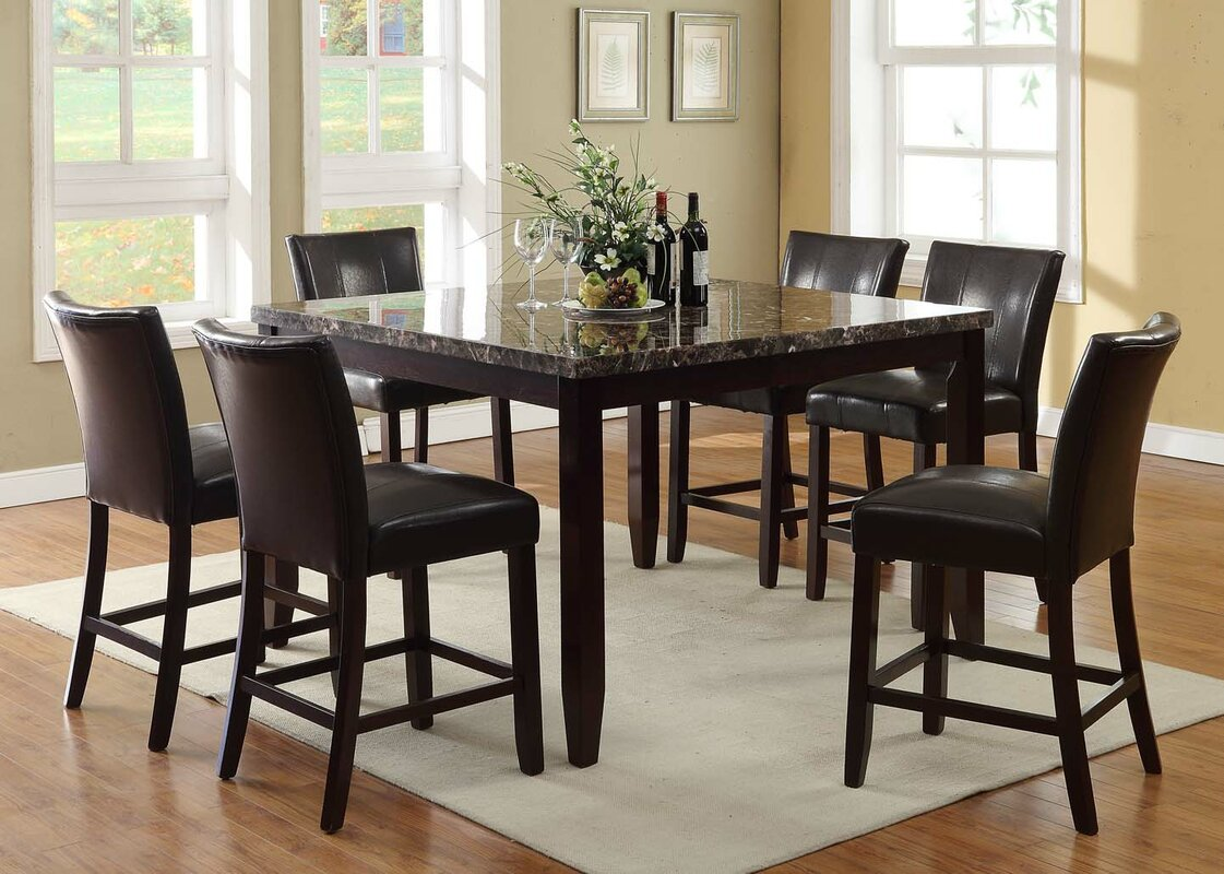 living in style harvard  piece counter height dining set . harvard  piece counter height dining set