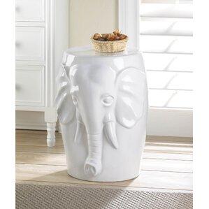 Elephant Ceramic Decorative Stool