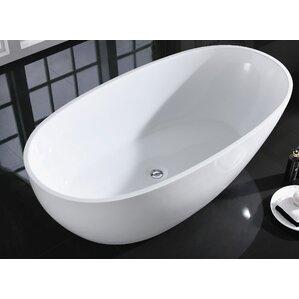 60 x 30 freestanding tub. Sarah 60  x 33 5 Freestanding Bathtub Boyce Acrylic Tub Wayfair
