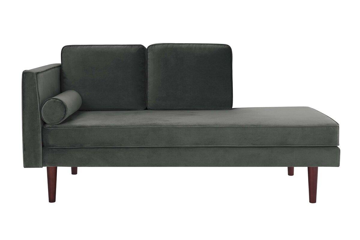 Jabari Mid Century Modern Upholstered Daybed With Mattress  ~ Mid Century Chaise Sofa