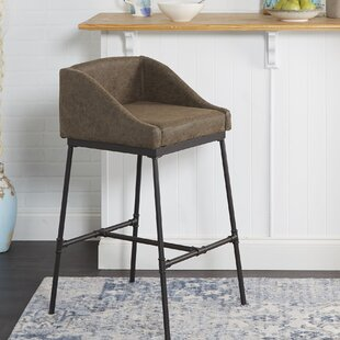 Seidel Industrial Pipe Square 29 Bar Stool