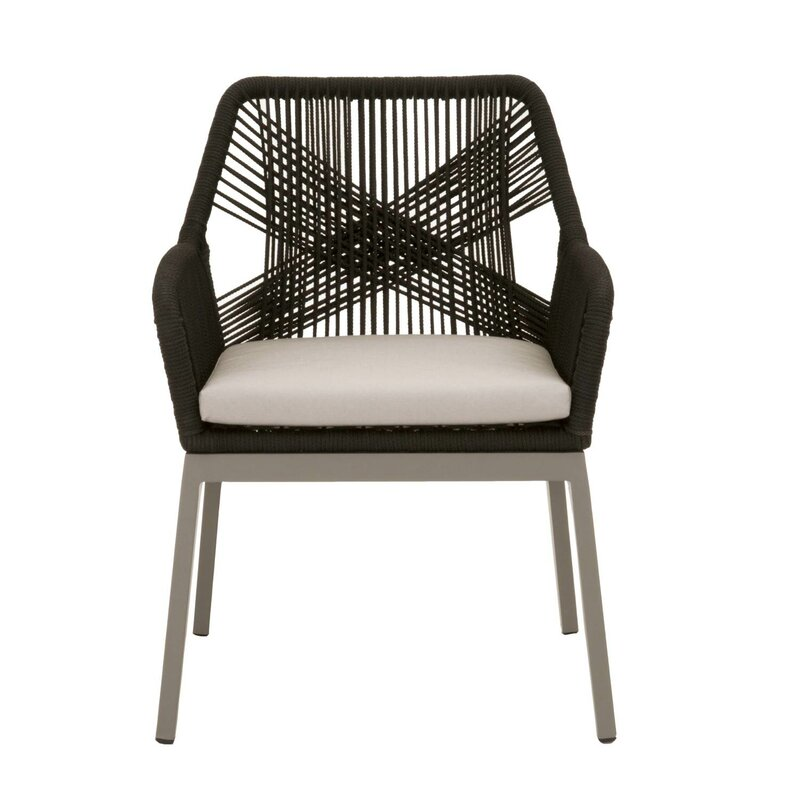 Rope Patio Furniture.Arnette Rope Weave Design Patio Dining Chair