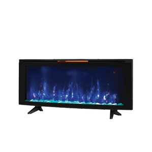Dahill Wall Mounted Infrared Quartz Electric Fireplace with Display Stand ..