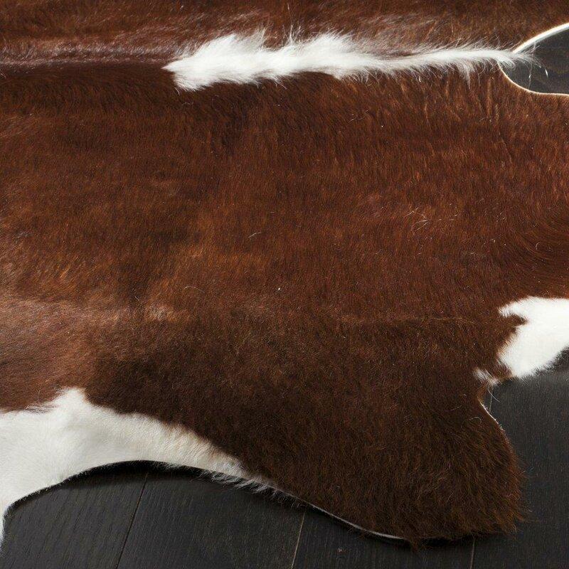 Cow Hide Caramel Area Rug & Reviews