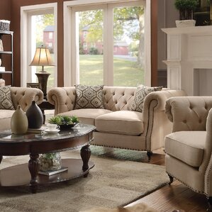 Foreside Chesterfield Loveseat by Darby Home..