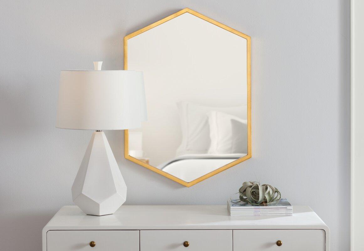 Cherine Hexagon Wall Mirror & Reviews | AllModern