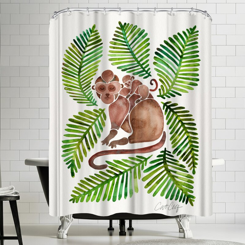 East Urban Home Monkeys Shower Curtain