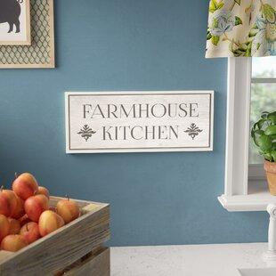 Farmhouse Kitchen Typography Rectangle Textual Art On Canvas