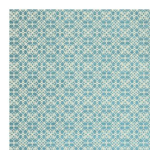 Compare Hand Woven Aqua Blue/White Indoor/Outdoor Area Rug By Ruggable