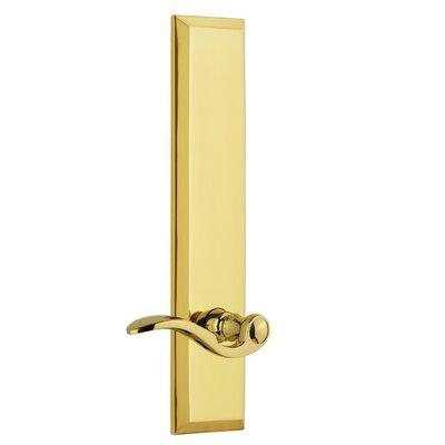Fifth Avenue Tall Plate Privacy Door Lever Grandeur