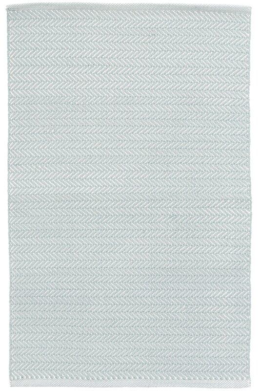 Dash And Albert Rugs Herringbone Blue White Indoor Outdoor
