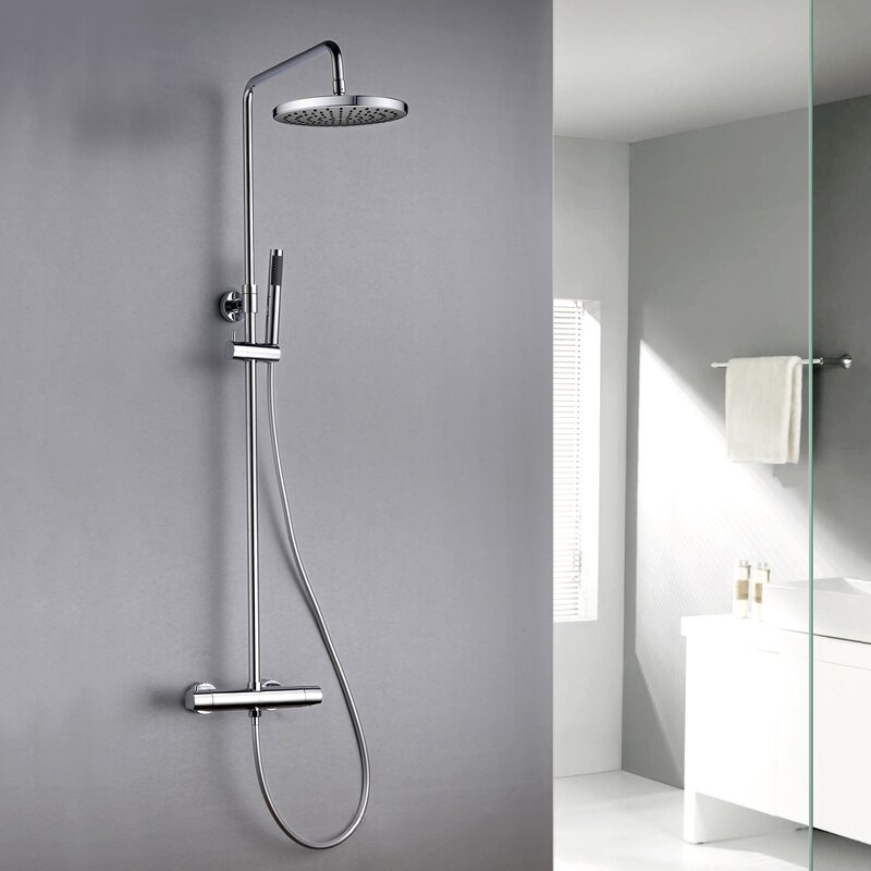 Jade Bath Pippa II Thermostatic Dual Head Complete Shower System ...