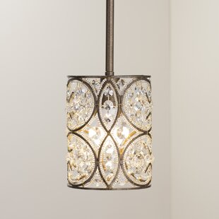 Manigault 1 Light Crystal Pendant