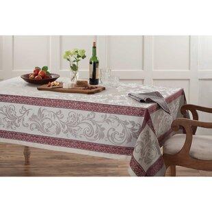 Delightful Emerson Elegant Scroll Woven Jacquard Tablecloth