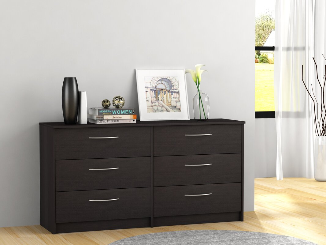 karis 6 drawer double dresser