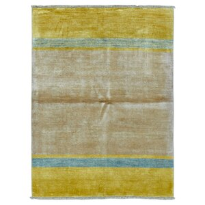 One-of-a-Kind  Roselyn Hand Woven Wool Yellow/Beige Area Rug