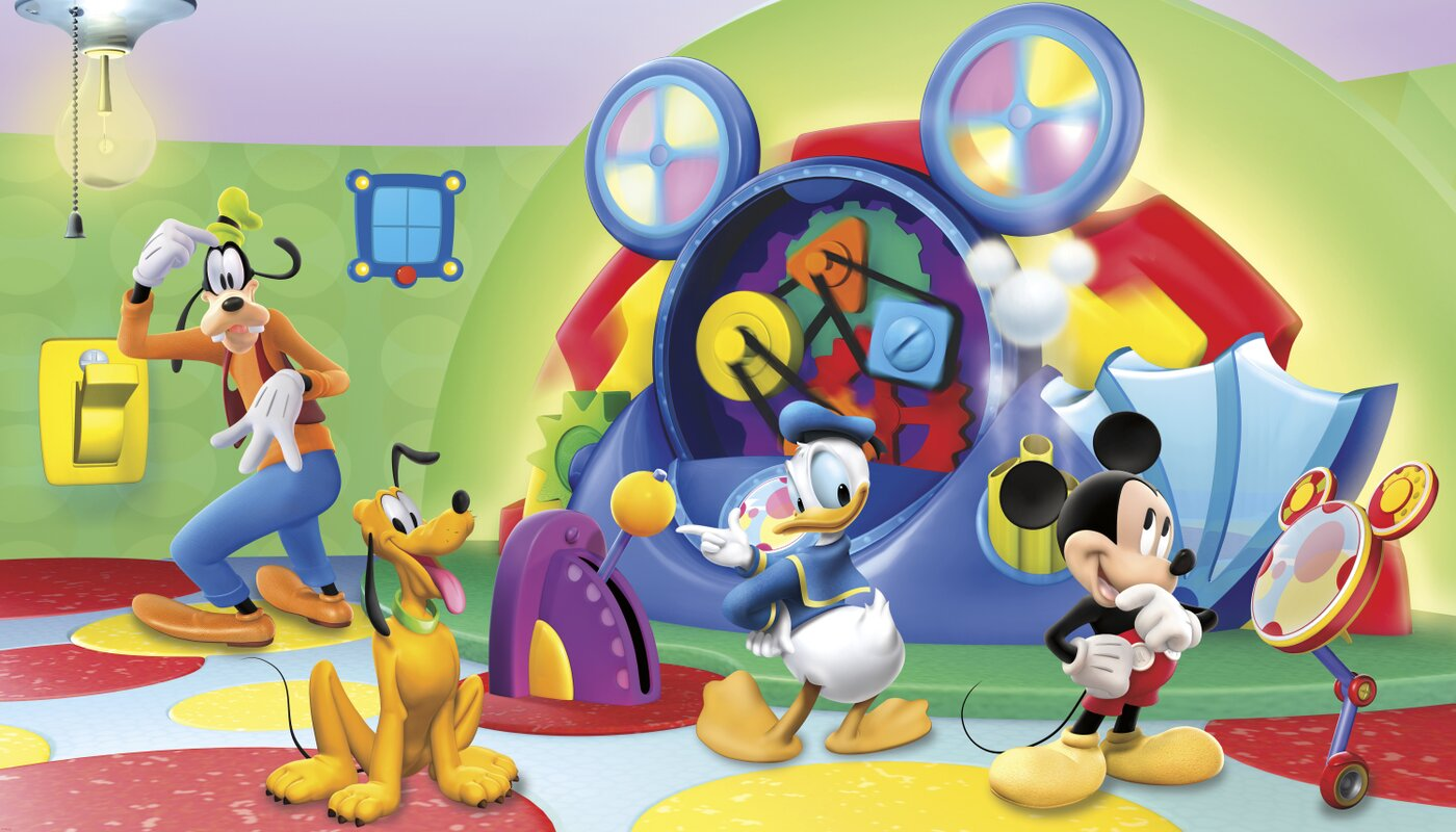 Walt Disney Kids II Mcky Friends Clbhse Capers Wall Mural Part 86