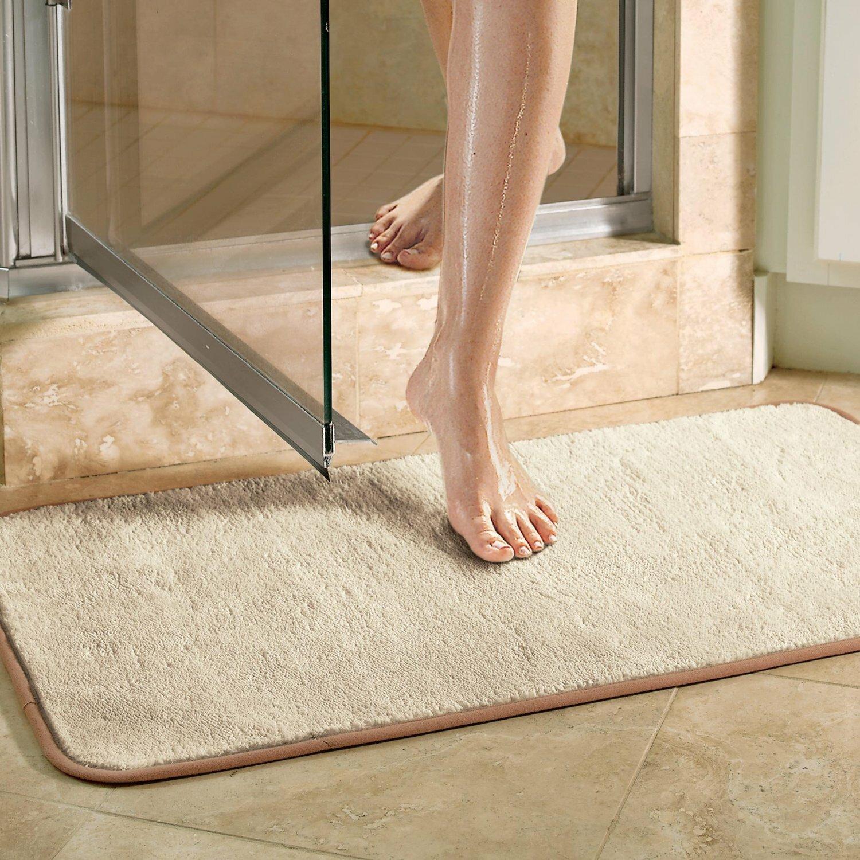 com amazon mat teak original the bath kitchen spa shower dp floor home mats