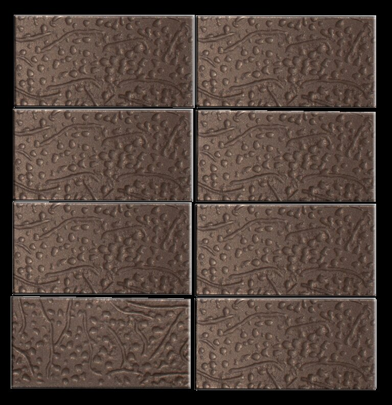 Susanjablon Architects Overstock 3 X 6 Glass Subway Tile In Brown