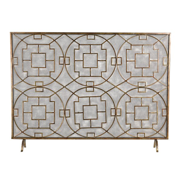Bungalow Rose Rockwell Single Panel Fireplace Screen & Reviews ...