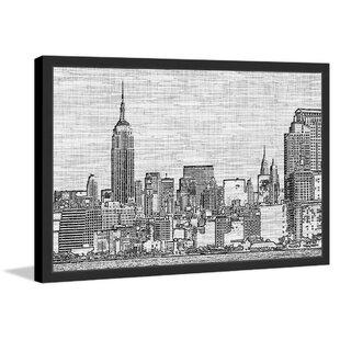 New York Skyline 1 Framed Painting Print