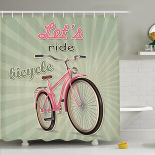Completely new Bicycle Shower Curtain | Wayfair US26