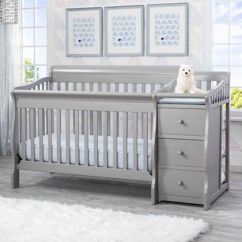 delta children princeton junction 4 in 1 convertible crib and changer combo reviews wayfair. Black Bedroom Furniture Sets. Home Design Ideas