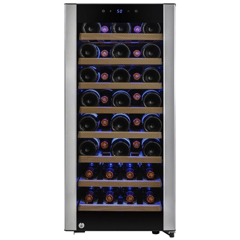 AKDY 38 Bottles Single Zone Freestanding Wine Cooler