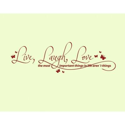 Style And Apply Live Laugh Love Quote Wall Decal Reviews Wayfair Amazing Live Laugh Love Quotes