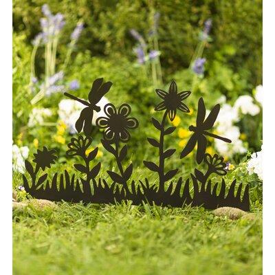 Metal Dragonfly Garden Art