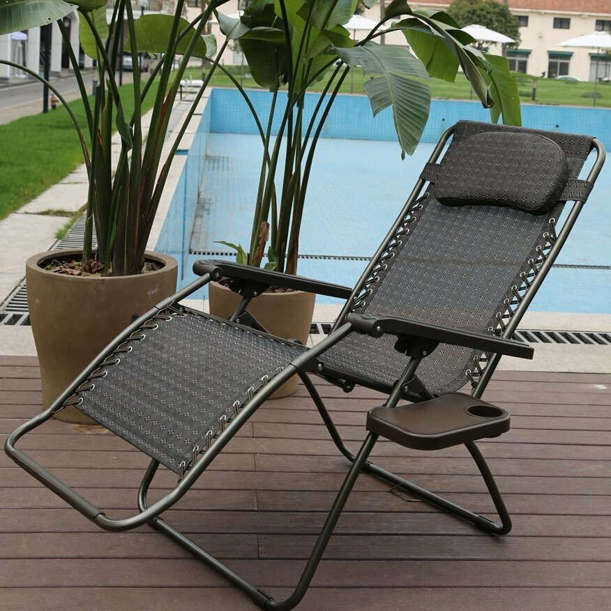 Abba Patio Reclining Folding Zero Gravity Chair With Cushion Wayfair